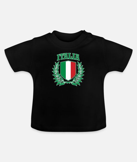 Proud Baby T-Shirts - Italia: Italian Collegiate Coat of Arms - Baby T-Shirt black