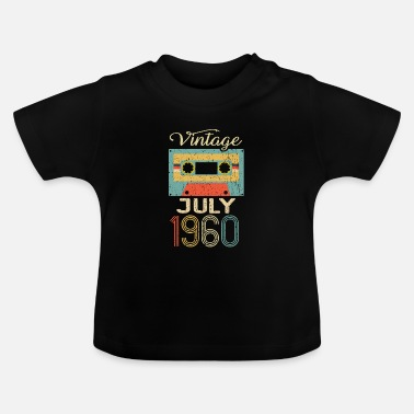Tape Vintage July 1960 60th Birthday 60 Year Gift - Baby T-Shirt