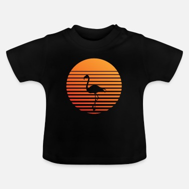 South America Flamingo silhuette in the sunset - Baby T-Shirt