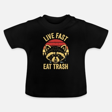 Trash Raccoon Trash Panda Garbage Eating Robber Mask - T-shirt Bébé