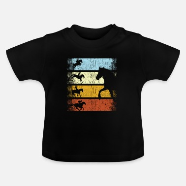 Paardensport Retro vintage ruiter paardensport paard - Baby T-shirt