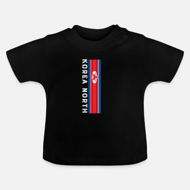 By korea nord national farve i striber - Baby T-shirt