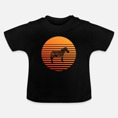 South America Zebra silhuette in the sunset - Baby T-Shirt
