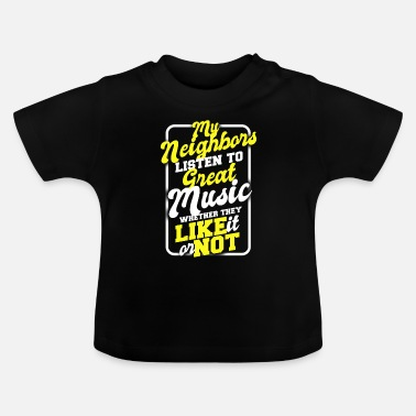 Guitar Guitar music bassist rock acoustic gift band - Baby T-Shirt