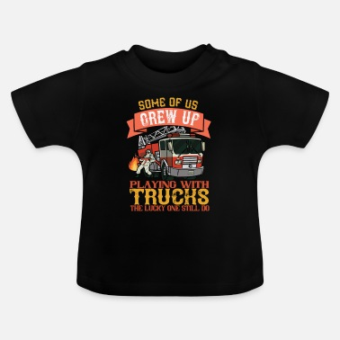 Firefighter adult funny sayings - Baby T-Shirt