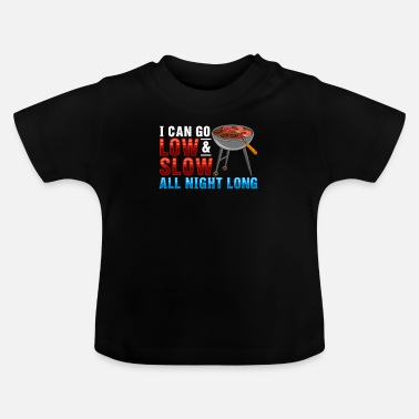 Smoking BBQ Chef Summer Adult Humor Meat - Baby T-Shirt