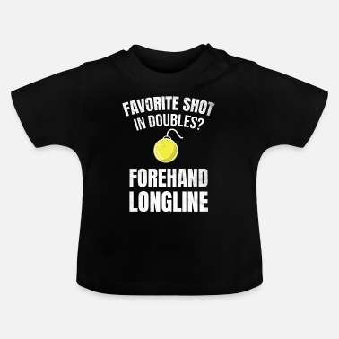 Longline Tennis doubles | Double player forehand longline - Baby T-Shirt