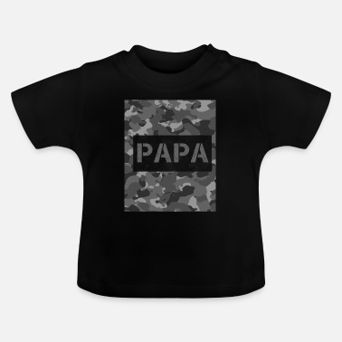 Soldaat Papa Camouflaged Army - Veterans day gift - Baby T-shirt