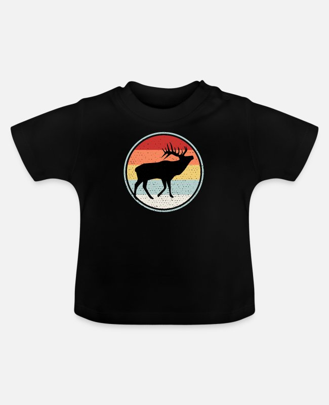 Alces Baby shirts - Alg - Baby T-shirt zwart