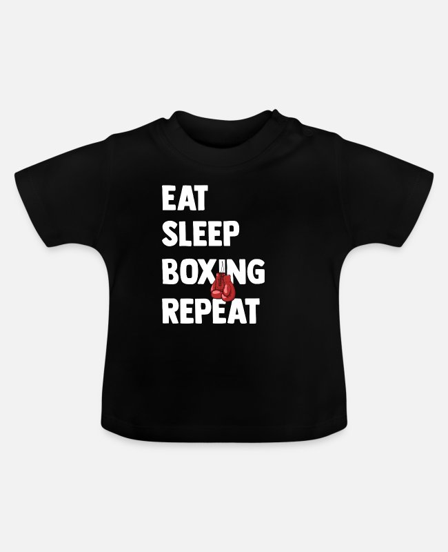 Martial Arts Baby T-Shirts - Boxing Martial Arts Punch Boxing Gloves Sparring - Baby T-Shirt black