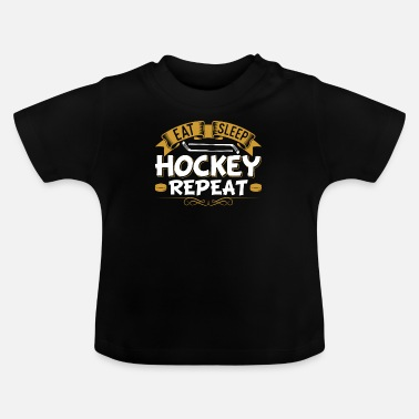College Ät Sleep Hockey Repeat Puck Graphics Fan - T-shirt baby