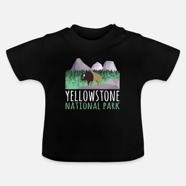 Helped Dome US Bison Buffalo Yellowstone National Park - Baby T-Shirt
