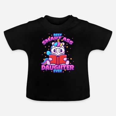 Streaker Best Klugscheißer-Daughter Unicorn - Baby T-Shirt