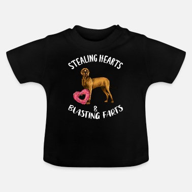 Steal Stealing Hearts Blasting Farts Brown Great Dane Va - Baby T-Shirt