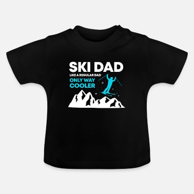 Ski Dad Funny Cute Winter Skiing Gift T Shirt - Baby T-Shirt