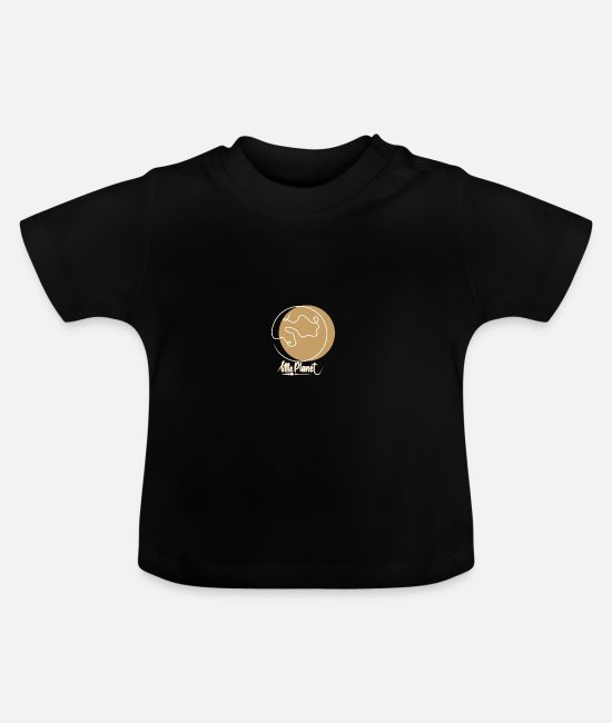 Earth Baby T-Shirts - Little Planet - small round earth travel traveling - Baby T-Shirt black