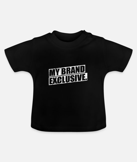 Glamour Baby T-Shirts - My Brand Exclusive - My Brand Exclusive - Baby T-Shirt black