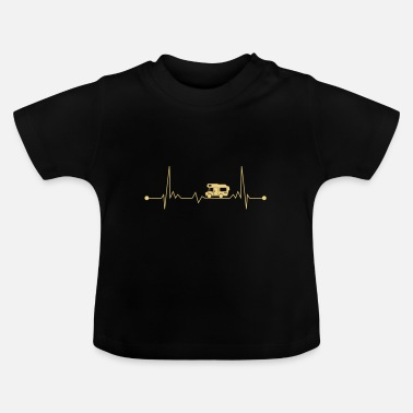 Kind Camping Wohnmobil EKG Alkoven Herzschlag Camper - Baby T-Shirt