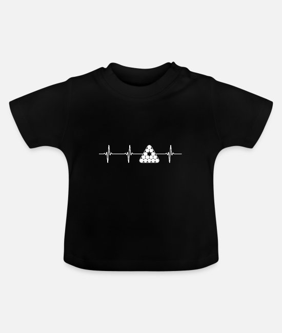 English Billiards Baby T-Shirts - Billiard Pool Billiards Snooker Cue ECG Gift - Baby T-Shirt black