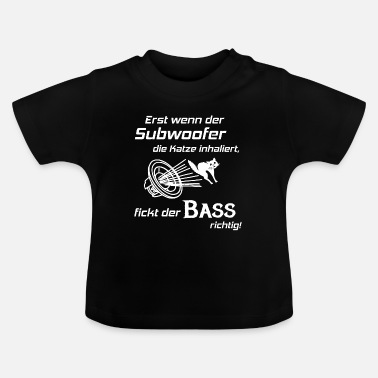 Hifi Voiture Hifi - Subwoofer Cat, Hifi Shirt Bass Lover - T-shirt Bébé
