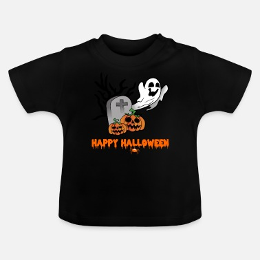 Ghost Halloween pumpkins tombstone ghost ghosts - Baby T-Shirt