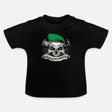 Soldier Of Fortune Soldier of Fortune | Skull Beret | Telescropes | Banner - Baby T-Shirt