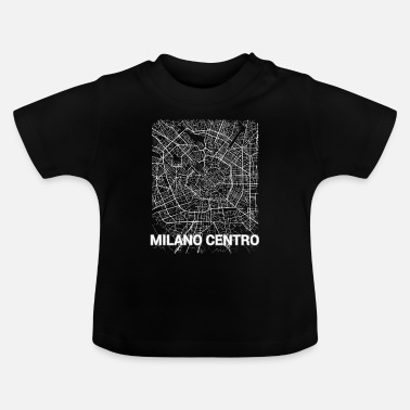 Set25 Milano centro city map and streets - Baby T-Shirt