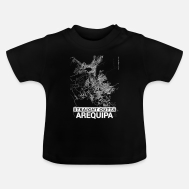 Arequipa Straight Outta Arequipa city map and streets - Baby T-Shirt
