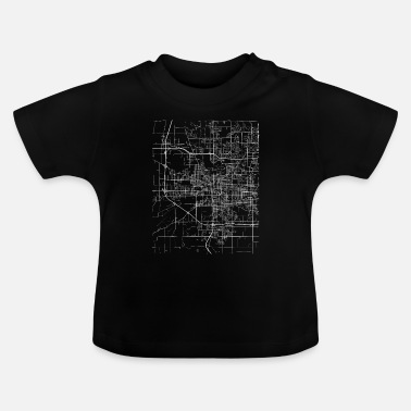 Minimal South Bend city map and streets - Baby T-Shirt