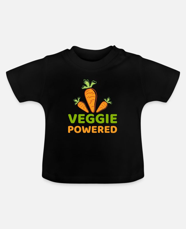 Animal Welfare Baby T-Shirts - Veggie powered - Baby T-Shirt black