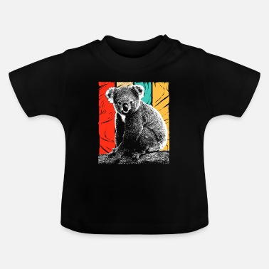 Hipster Koala Bear Australia Backpacker Koala Bien-être animal - T-shirt Bébé