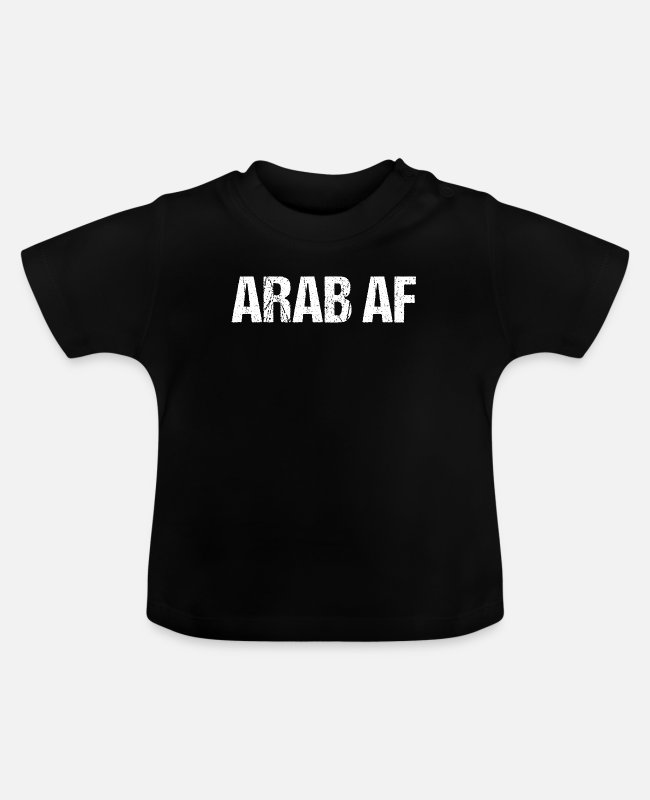 Alphabet Baby T-Shirts - ARAB AF - Baby T-Shirt black