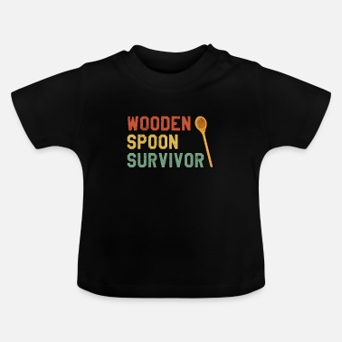 Friends Of Italy Wooden Spoon Survivor gift for fans of Italy - Baby T-Shirt