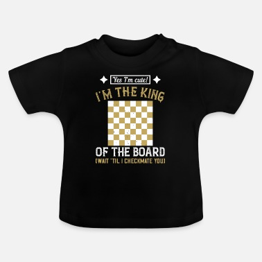 Tabblad Chess King - Schaakspeler cadeau - Baby T-shirt