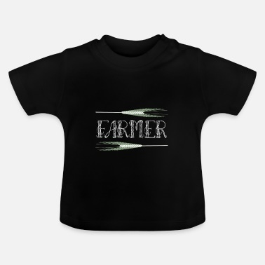 Grain Market Farmer, farmer with grain trees - Baby T-Shirt