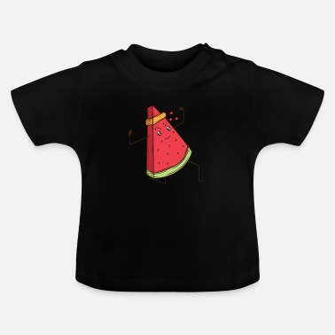 Graphic Art Watermelon does martial arts karate - Baby T-Shirt