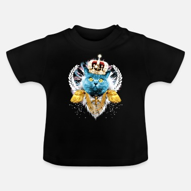 I-love-the-blues Blue Cat the King - hero - König Krone Held - Baby T-Shirt