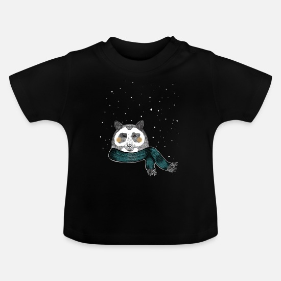 Winter Sports Baby Clothes - Winter bear - Baby T-Shirt black