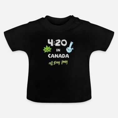 Hennep Funny Weed Canada stonerhennep cadeau 420e - Baby T-shirt