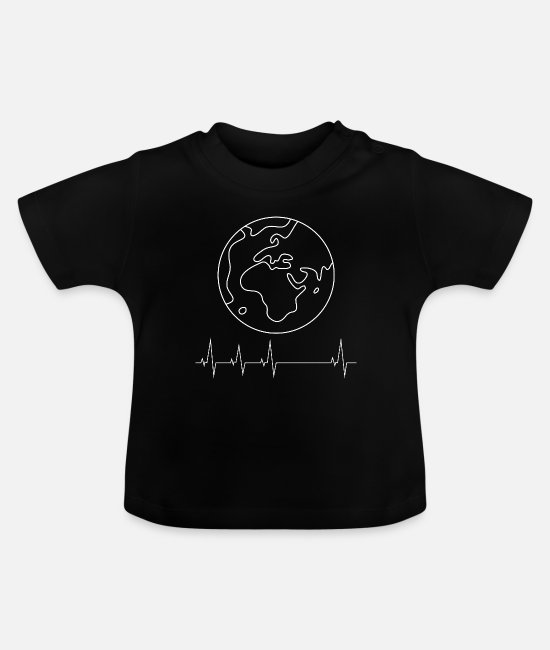 Earth Baby T-Shirts - earth - Baby T-Shirt black