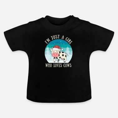 Sweet Cow Girl Who Loves Cows | Cow gift farmer saying - Baby T-Shirt