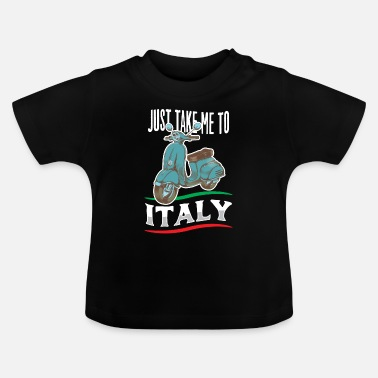 Scooter Italy country boots holiday pizza spaghetti flag - Baby T-Shirt