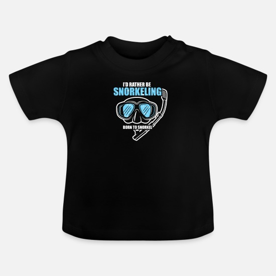 Reef Baby Clothes - Snorkeling diving under water - Baby T-Shirt black