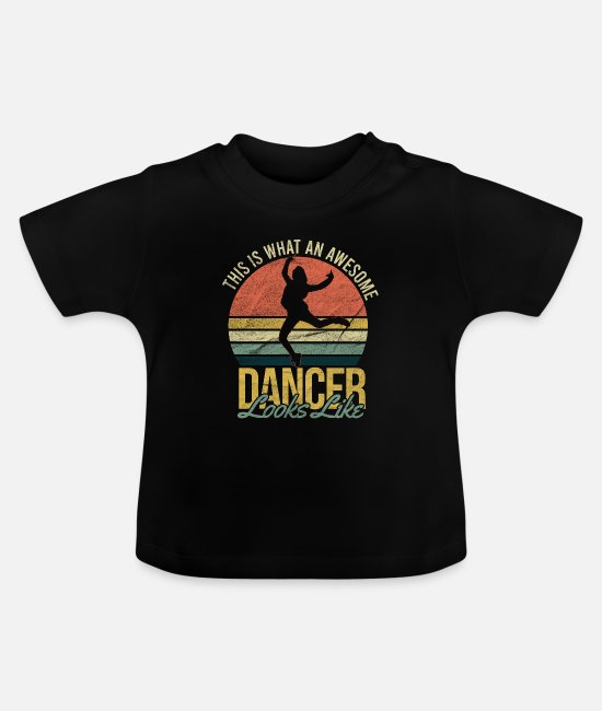 Movie Baby T-Shirts - Dancing - Baby T-Shirt black