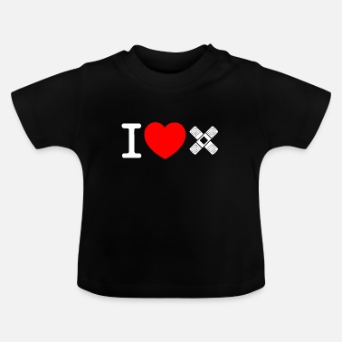 Adhesive Plaster I know love patch- - Baby T-Shirt