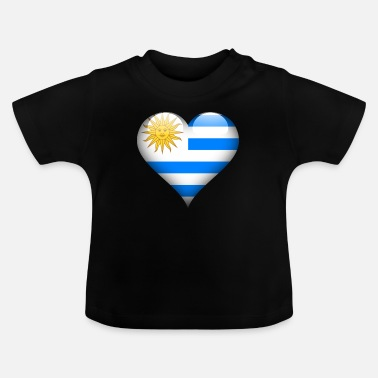 Root Heart Uruguay Flag - Baby T-Shirt