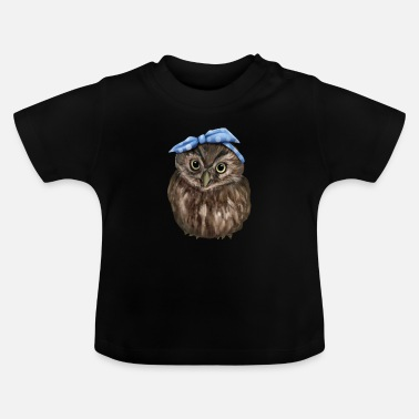 Owls Owl With Headband Owl Owls - Baby T-Shirt