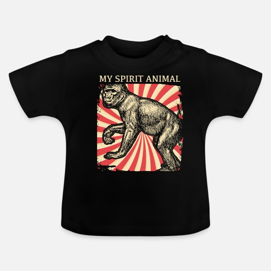 Monkeys Baby Clothes - Chimpanzee monkeys - Baby T-Shirt black