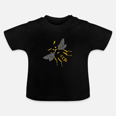 Bee wasp hornet yellow black - Baby T-Shirt