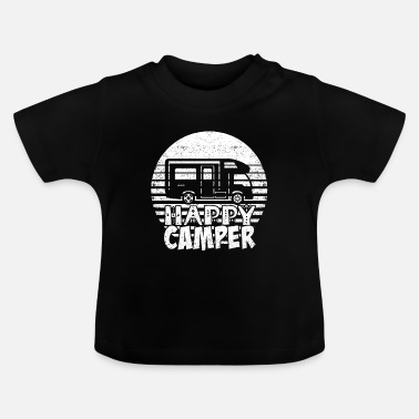 Camper Caravan Camping Adventure Retro Travel Gift - Baby T-shirt
